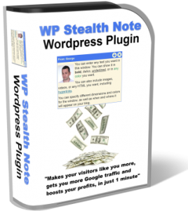 wp stealth note plugin